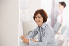 Portrait of mature office worker Stock Image