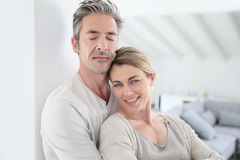 Portrait of mature serene couple at home Royalty Free Stock Photo