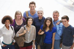 Portrait Of Mature Students On Further Education Course Royalty Free Stock Images