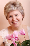 Portrait of a mature woman Royalty Free Stock Photo