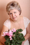 Portrait of a mature woman Royalty Free Stock Images