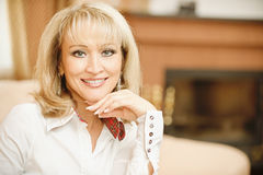 Portrait of mature woman Royalty Free Stock Images
