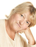 Portrait of a mature woman Stock Photography