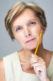 Portrait of mature woman Royalty Free Stock Photo