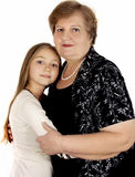 Portrait of a mature woman with granddaughter Stock Photos