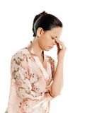 Portrait of a mature woman with headache Royalty Free Stock Image