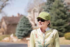 Portrait of a mature woman outdoors Royalty Free Stock Photography