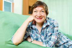 Portrait of mature woman relaxing Royalty Free Stock Image