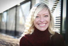 Portrait Of A Mature Woman Smiling Stock Photography