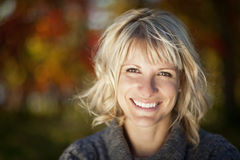 Portrait Of A Mature Woman Smiling stock image