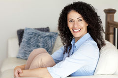 Portrait Of A Mature Woman Smiling At the Camera Stock Photos
