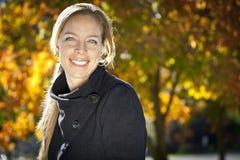 Portrait Of A Mature Woman Smiling stock photos