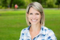 Portrait Of A Mature Woman Smiling royalty free stock images