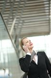 Portrait of a mature woman talking on a cellphone Stock Photo