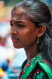 Portrait of the Mauritian girl in traditional dress Royalty Free Stock Photography