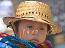 Portrait of a Mayan baby Royalty Free Stock Photos