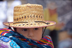 Portrait of a Mayan baby Stock Photography