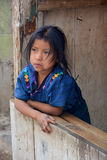 Portrait of a Mayan child Stock Photo