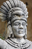 Portrait of Mayan warrior Stock Images