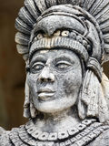 Portrait of Mayan warrior. Portrait of stone Mayan warrior on Yucatan Peninsula, Mexico Stock Images