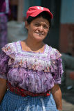 Portrait of a Mayan woman. Royalty Free Stock Photo