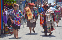 Portrait of a Mayan women Stock Images