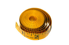 Portrait of a Measuring tape against a soft light Stock Photos