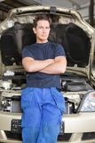 Portrait of a Mechanic Royalty Free Stock Images