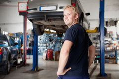 Portrait of Mechanic Stock Images