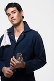 Portrait of a mechanic Royalty Free Stock Photos