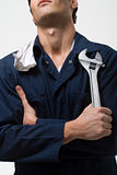 Portrait of a mechanic Stock Photos