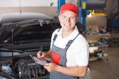 Portrait of a mechanic Stock Images