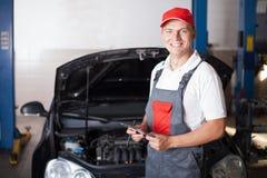 Portrait of a mechanic Stock Image