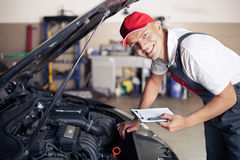 Portrait of a mechanic Royalty Free Stock Photography