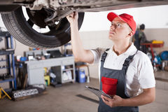 Portrait of a mechanic Stock Photo