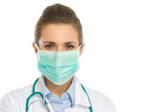 Portrait of medical doctor woman in mask Royalty Free Stock Photos