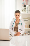 Portrait of medical doctor woman in office Royalty Free Stock Image