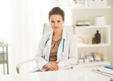 Portrait of medical doctor woman in office Stock Photo