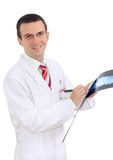 Portrait of medical doctor with a x-ray image. Royalty Free Stock Images