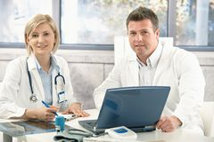 Portrait of medical doctors Stock Photos