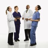 Portrait of medical healthcare workers. Stock Photos