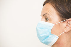 Portrait medical nurse with mask Stock Images
