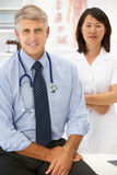 Portrait of medical professionals. Looking at camera royalty free stock images