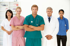 Portrait of medical professionals. Looking at camera stock images