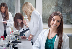 Portrait of medical students Royalty Free Stock Photo