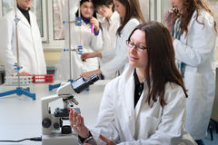 Portrait of medical students stock image