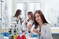Portrait of medical students stock photography