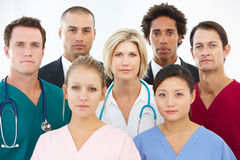 Portrait Of Medical Team Royalty Free Stock Photos