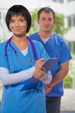 Portrait of a medical team Royalty Free Stock Photos