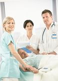 Portrait of medical team with patient Royalty Free Stock Images